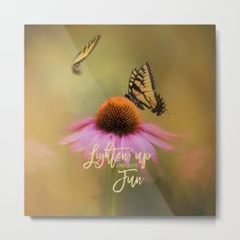 Butterflies At Play Metal Print