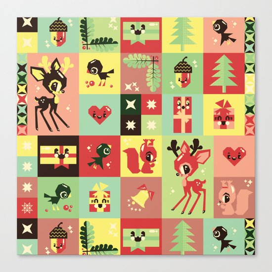 Christmas Geometric Pattern No. 2. Canvas Print