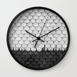 SHELTER / white and black Wall Clock