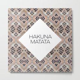 HAKUNA MATATA - URBAN JUNGLE PRINT Metal Print