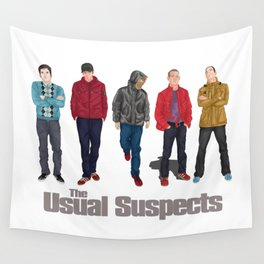 The Usual Suspect casual fashion style Wall Tapestry