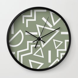 Shapes- lost and found Wall Clock