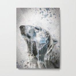 Lake Polar Bear Metal Print