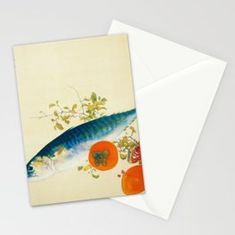12,000pixel-500dpi - Takeuchi Seiho - Autumn Fattens Fish and Ripens Wild Fruits - Digital Remaster Stationery Cards
