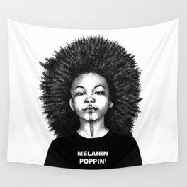 Melanin Poppin Wall Tapestry