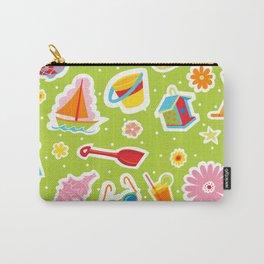 Summer Fun Green Carry-All Pouch