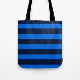 Blue Horizontal Stripes Graphic Tote Bag
