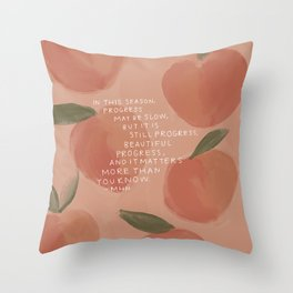 Progress, Beautiful Progress Throw Pillow