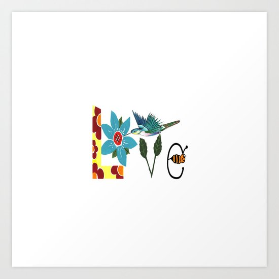 L Is For Love Art Print