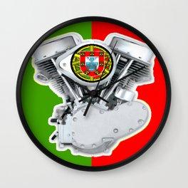 Portuguese Biker Wall Clock