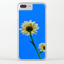 White Daisies Clear iPhone Case