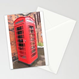 red phone call box london Stationery Cards