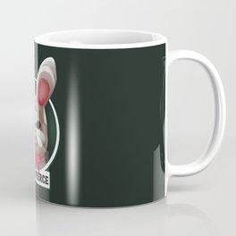 Stay fierce cute grumpy white plushy rabbit Coffee Mug