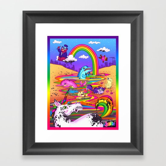 Oil Spill Framed Art Print