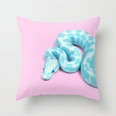 BLUE SNAKE Throw Pillow