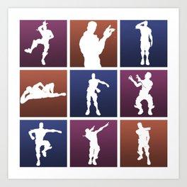 Emotes for everyone! Art Print