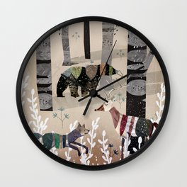 Forest in Sweater Wall Clock