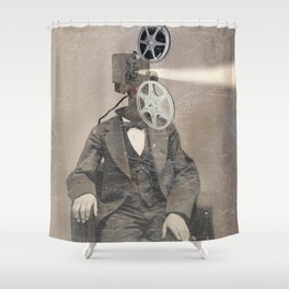 Faces of the past: Projector Shower Curtain