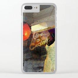 Vino Cucino Tomato Clear iPhone Case
