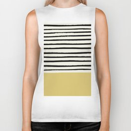 Daffodil Yellow x Stripes Biker Tank