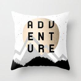 Adventure Golden Sunrise Throw Pillow