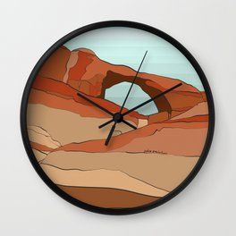 Moab Arches Wall Clock