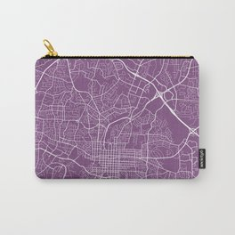 Raleigh Map, USA - Purple Carry-All Pouch