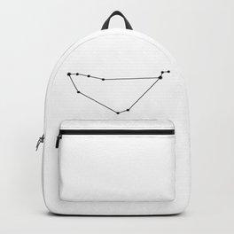 Capricorn Star Sign Black & White Backpack