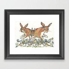 Lupus Trifectus  Framed Art Print
