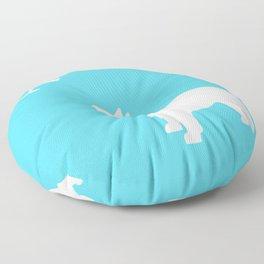 French Bull dog art Floor Pillow
