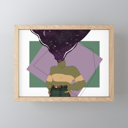 another world abstract Framed Mini Art Print