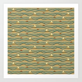 Sailing pattern 1d Art Print