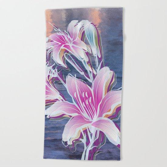 Variation of flowers - Sunset Beach Towel