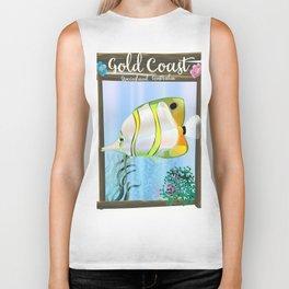Gold Coast Australia travel poster Biker Tank