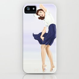 Pin up - Oh, it's windy iPhone Case