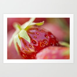 Details of a strawberry Art Print