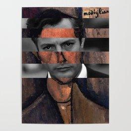 """Modigliani """"Portrait of a Poet"""" & Marcello Mastroianni Poster"""