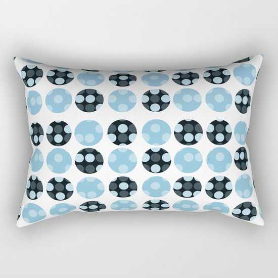 polka dots with blue colors Rectangular Pillow