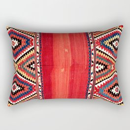 Fethiye  Antique Turkish Kilim Camel Trapping Print Rectangular Pillow