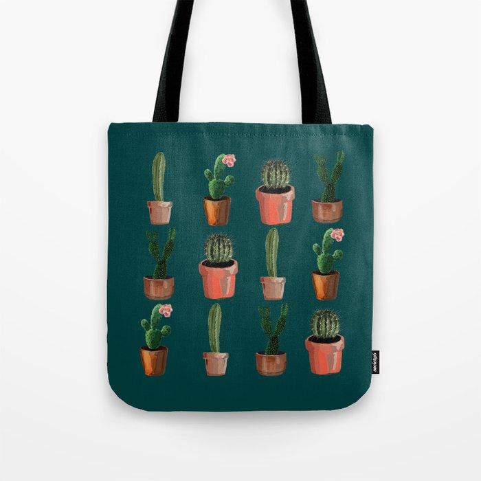 Various Cacti Green Tote Bag
