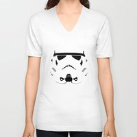 storm trooper V-neck T-shirts featuring Storm Trooper by WaXaVeJu