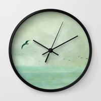 silence of the lambs Wall Clocks featuring silence by Claudia Drossert