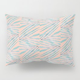 Palm Leaves Coral Pillow Sham