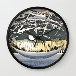 Nestled In The Mountains Wall Clock