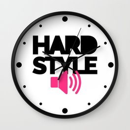 Hardstyle Speaker Music Quote Wall Clock
