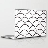house stark Laptop & iPad Skins featuring Stark Scales by SonyaDeHart