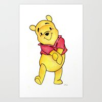 winnie the pooh Art Prints featuring Winnie the Pooh by laura nye.