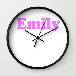 Emily - Personalised Name Design Wall Clock