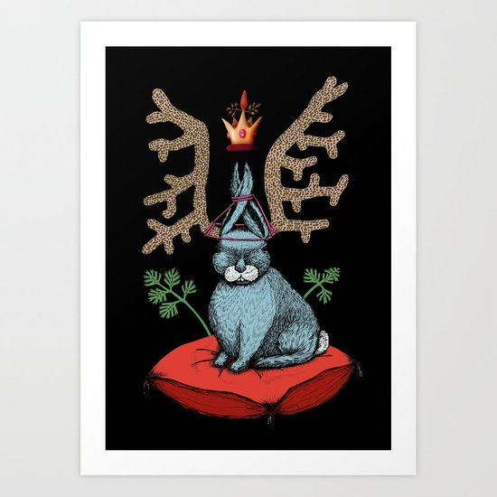 King of Fools 2 (Blue Rabbit) Art Print