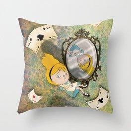 falling down Throw Pillow